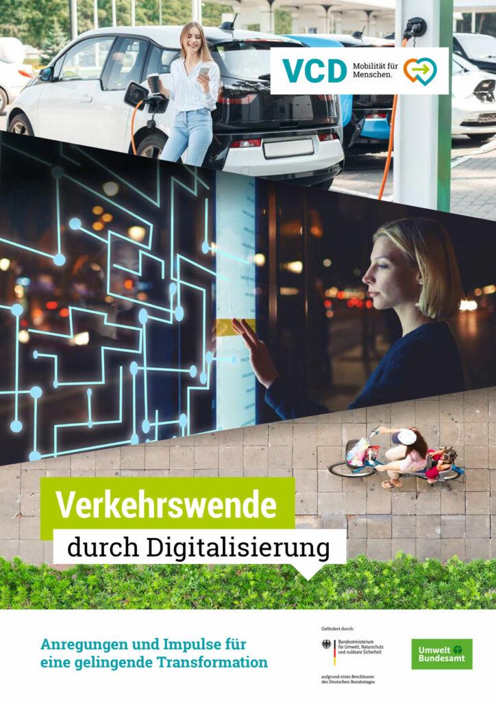 """Cover des VCD-Leitfadens """"Verkehrswende durch Digitalisierung. Anregungen und Impulse für eine gelingende Transformation"""""""